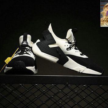 0c8b2650f704 Cheap 2018 Men Nike Air Huarache Drift Sneakers Black Sail White AH7334-002  sneaker