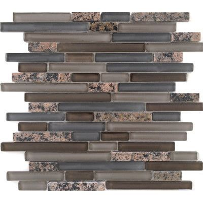 Epoch Random Sized Stone and Glass Mosaic Tile in Tropical Brown Mixed