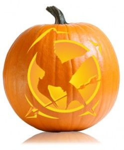 Mockingjay Hunger Games Pumpkin Pattern, you know, to match your katniss costume