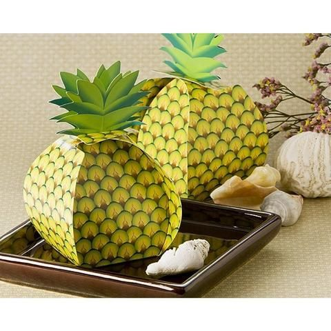 Tropical Treats Oversized Pineapple Favor Box, pineapple favor, tropical favor box, tropical wedding decorations, tropical wedding décor, Favor Boxes