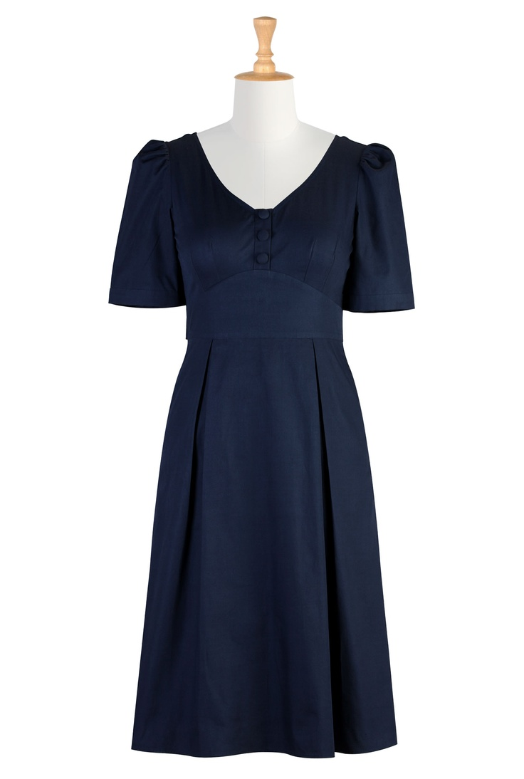 Womens Full sleeve dresses - Shop for Empire dresses - Custom sized and styled to suit you - | eShakti.com