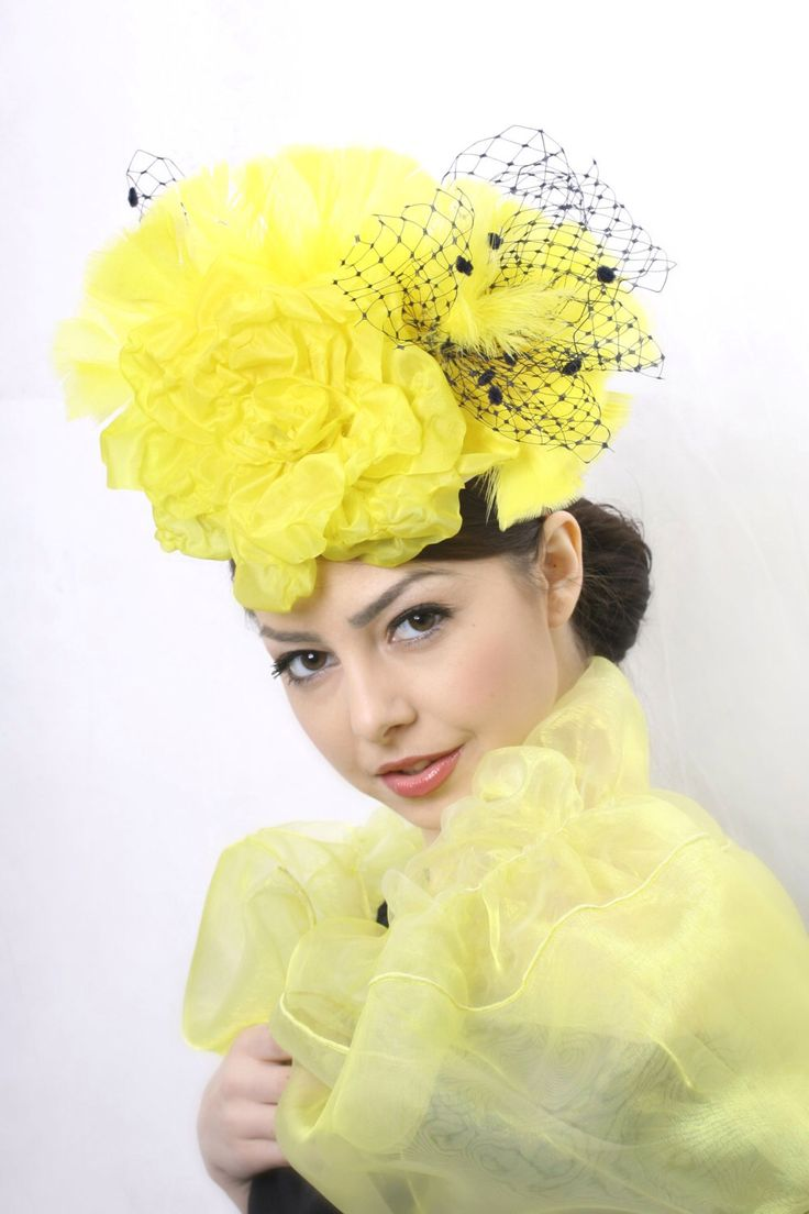 FREE SHIPPING! Kentucky derby fascinator, Royal Ascot hat, Couture hat, Wedding headpiece, Yellow fascinator, couture hat, couture millinery by IrinaSardarevaHats on Etsy https://www.etsy.com/listing/229340256/free-shipping-kentucky-derby-fascinator