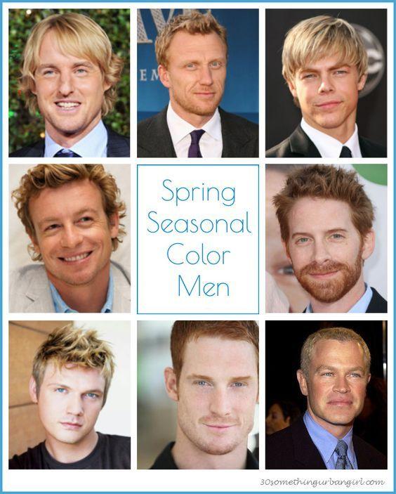Tavasz színtípusú férfiak - élénk és meleg színpigmentekkel