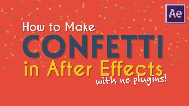 How to Make Confetti in AE [with no plugins!] | After Effects Tutorial