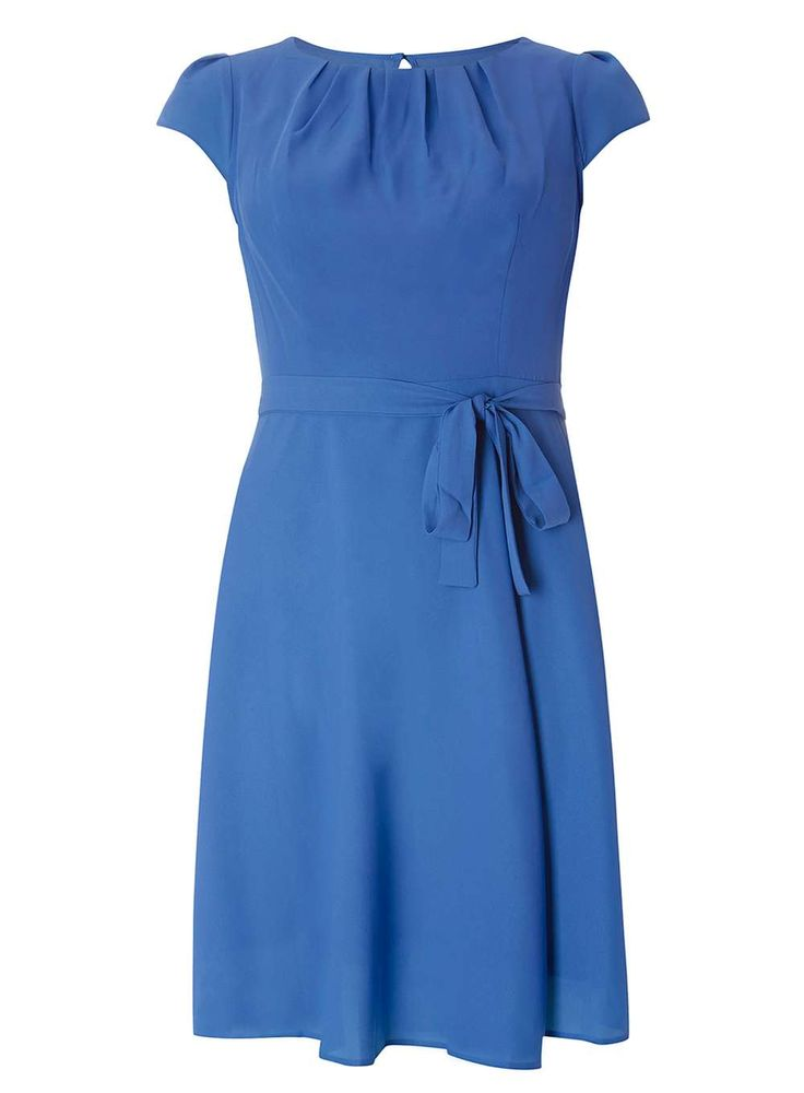 Womens **Billie & Blossom Blue Chiffon Dress- Blue