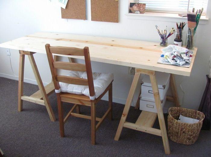DIY Schreibtisch Selber Bauen Arbeitstisch Aus Holz Amazing Ideas