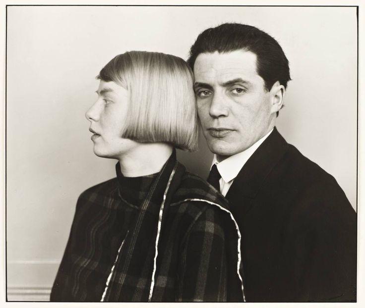 """""""the architect hans heinz lüttgen and his wife dora"""" by august sander."""