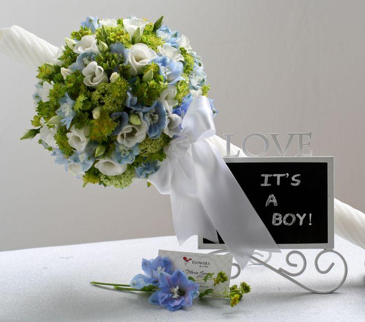 Lumanare botez, baiat https://www.facebook.com/FlowersByAna