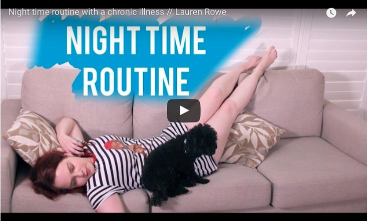 In this humorous video from Gifted Lift, Lauren gives us a sneak peek into the nighttime routine of someone with a chronic illness.