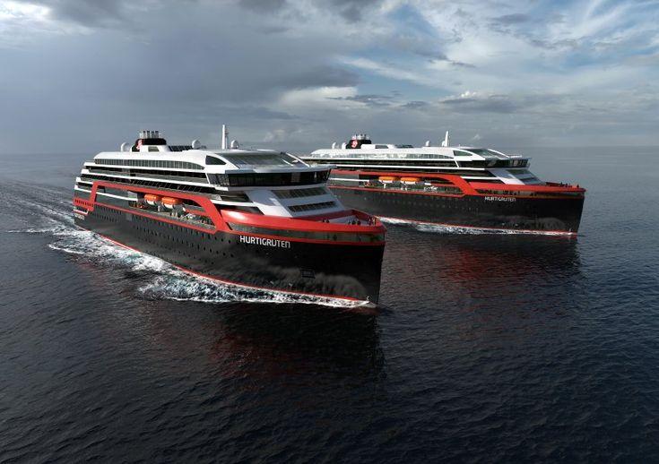 Die Schiffe sind mit Hybrid-Motoren ausgestattet, ein Novum für Eisbrecher...