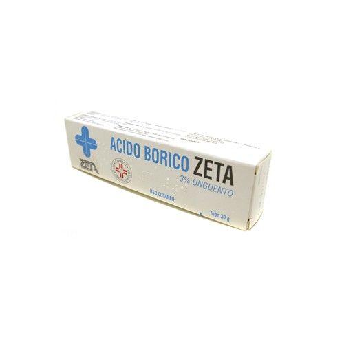 ACIDO BORICO ZETA 3% UNGUENTO   Antisettico per la disinfezione di ustioni minori e di aree cutanee irritate o screpolate. L'unguento ha anche un'azione decongestionante. L'acido borico è indicato come antibatterico per il trattamento dell'acne.   SCONTO DEL 21%  #acidoborico #unguento #ustioni #irritazionicutanee #acne #antibatterico