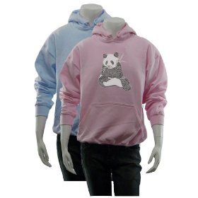 Women`s Pink Panda Hoodie S - Created using a list of 37 popular animals on the endangered species list $34.99