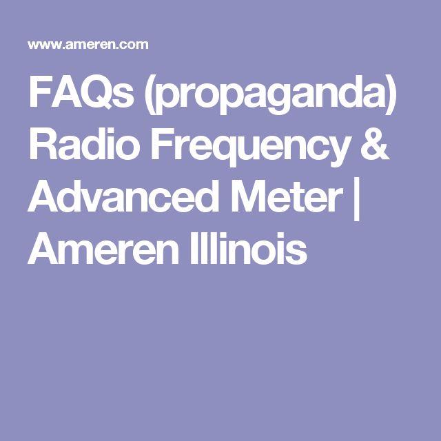 FAQs (propaganda) Radio Frequency & Advanced Meter   Ameren Illinois