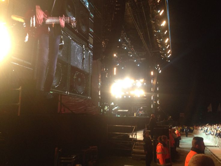 Side of Stage for Fleetwood Mac