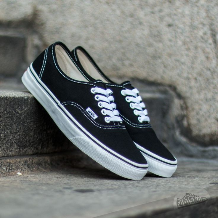 Vans Authentic black. I wore these in the 90's, still cool today.
