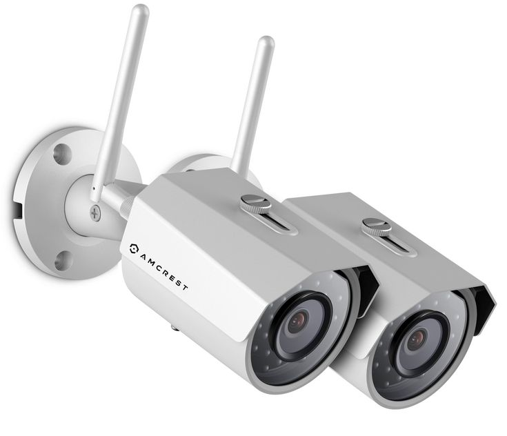 2-Pack Amcrest IPM-723W Outdoor 960P 1.3 Megapixel (1280TVL) WiFi Wireless IP Security Bullet Camera - IP67 Weatherproof, 1.3MP (1280 x 960) (White)