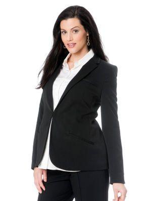 Tailored Twill Maternity Jacket