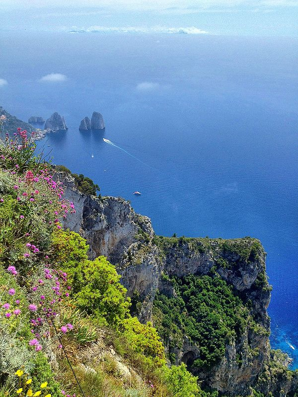 View from the top of monte solaro capri naples campania for Isle of capri tours