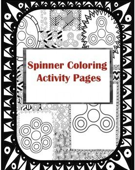 Fidget spinner coloring activity handout pages teacher for Fidget spinner coloring pages