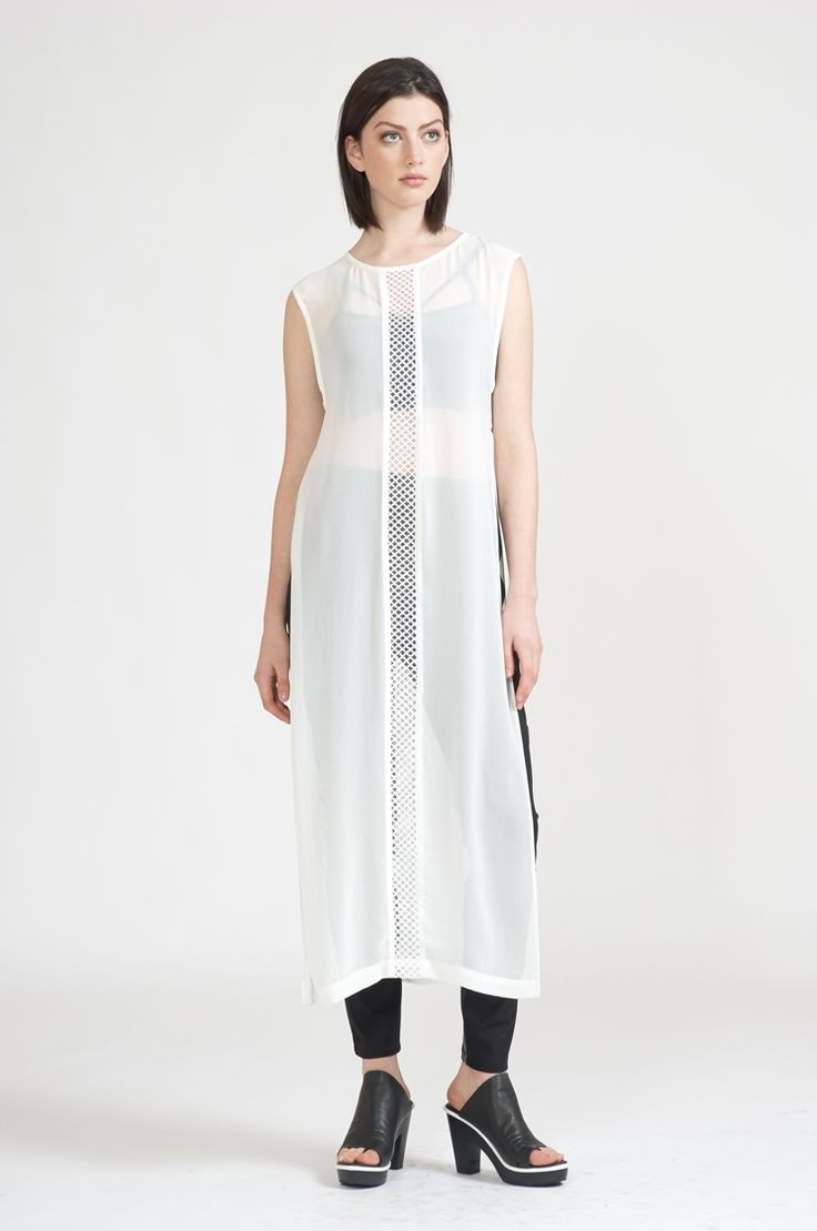 fret tabard - Polyester white : dresses : shop online • m o o c h i