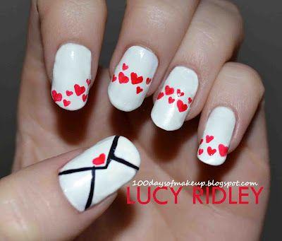 Love letter nails: Nailart, Nails Design, Nail Design, Hair, Nail Art, Love Letters