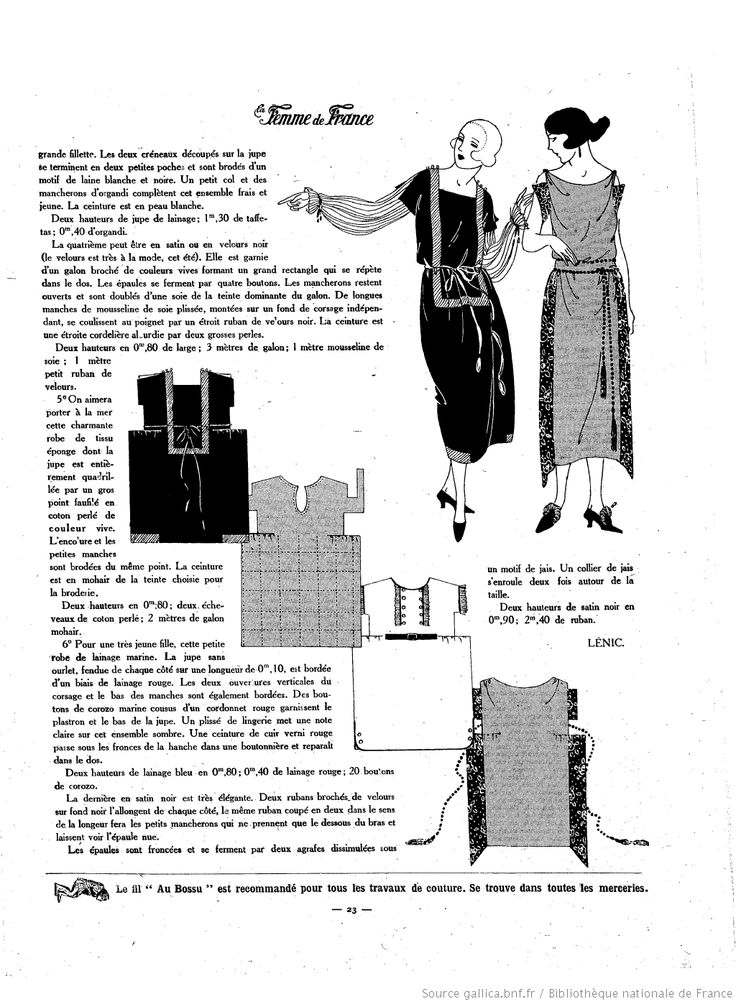La Femme de France 1921/06/19 p. 23 It's a One Hour Dress!  Oh la la!