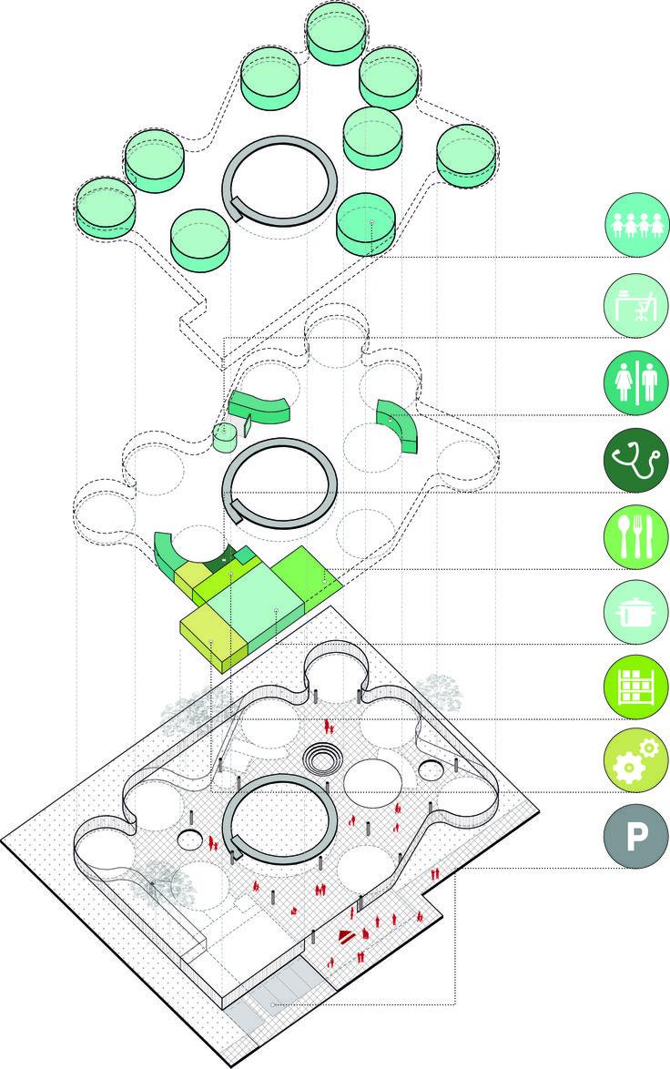 Imagen 16 de 24 de la galería de FP Arquitectura, primer lugar en concurso Ambientes de Aprendizaje del siglo XXI: Jardín Infantil Tibabuyes. Programa. Image Cortesia de FP arquitectura