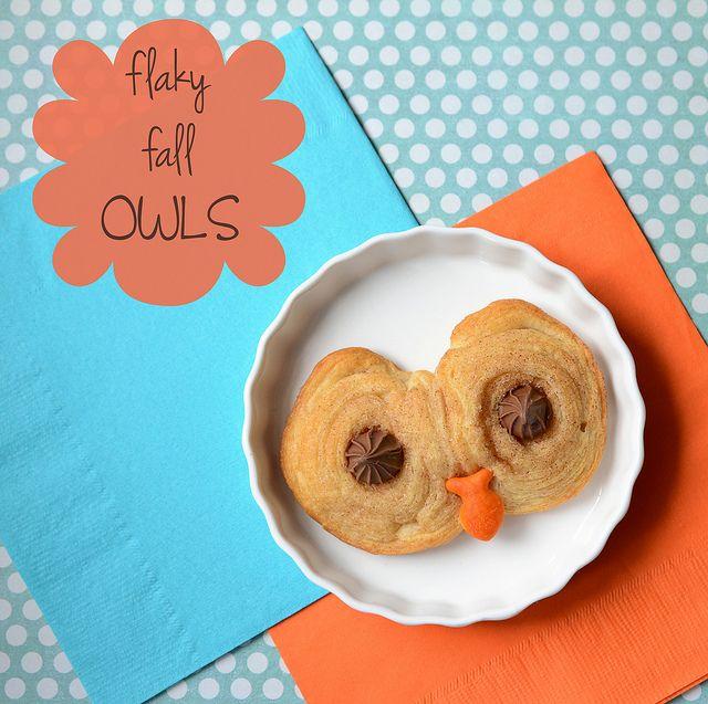 Homemade Flaky Fall Owls - Made with Pillsbury Crescents