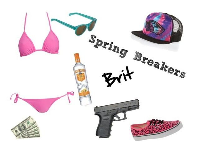 """""""Spring Breakers-Brit"""" by kerithmartin ❤ liked on Polyvore featuring Wonderland, Vans and Linda Farrow"""