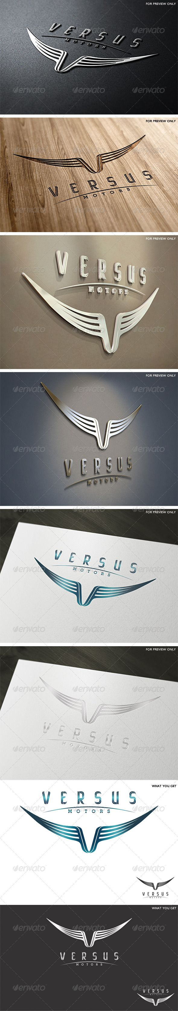 Versus Motors - Logo Design Template Vector #logotype Download it here: http://graphicriver.net/item/versus-motors-logo-template/2449902?s_rank=1?ref=nexion