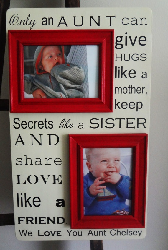 I love this for mine  Justins little sisters, with boy babies pictures on it! They would probably love this as a gift and feel super special.