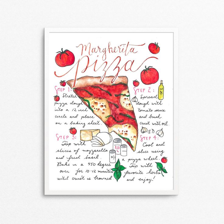 Pizza Recipe Art Print, Pizza Party, Kitchen Decor, Gift for Foodie, Gourmet Gift,Pizza Lover,Gift for Chef,Gift for College Student,For Mom by PrimpPrints on Etsy https://www.etsy.com/listing/480232972/pizza-recipe-art-print-pizza-party