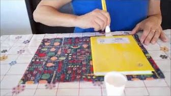 #DIY Porta caderno em tecido (cartonagem) - Passo a passo - YouTube