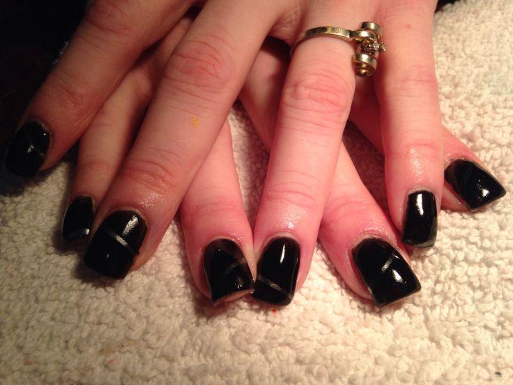 Black nails | Gel nails | Pinterest