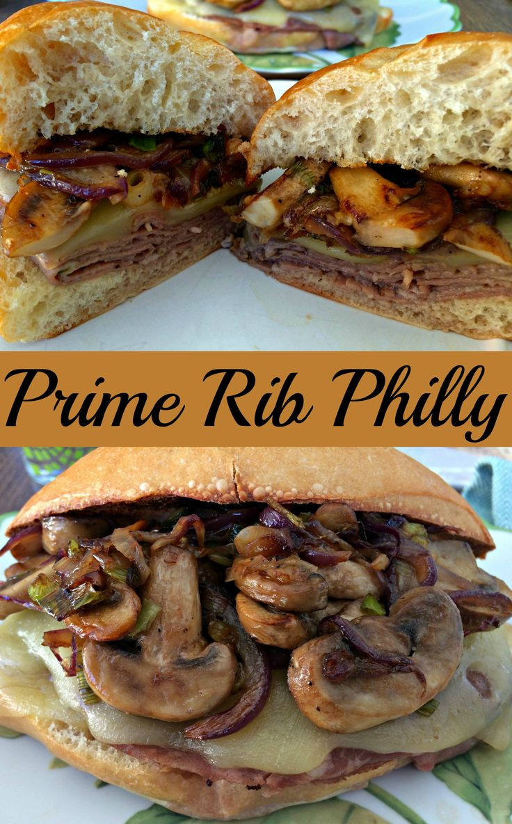 Prime Rib Philly ~ The Complete Savorist Prime Rib deli meat with sautéed onions and peppers and Swiss cheese.