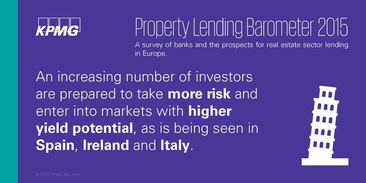 An increasing number of realestate investors are prepared to take more risk #realestate #KPMG #Property #KPMGPoland #Poland