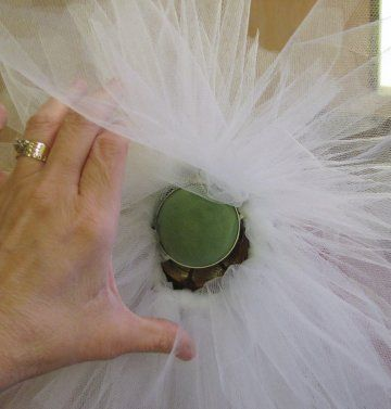 Wedding Tulle Bows; Step by step photo tutorial for gorgeous pew bows.  More directions for centerpieces, corsages, bouquets & more.