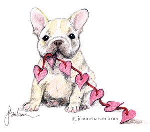 French Bulldog Love, illustration. http://frenchbulldogsusa.com/submit-a-picture-of-your-french-bulldog/