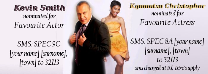 You Spectacular awards 2014. Kgomotso Christopher and Kevin Smith