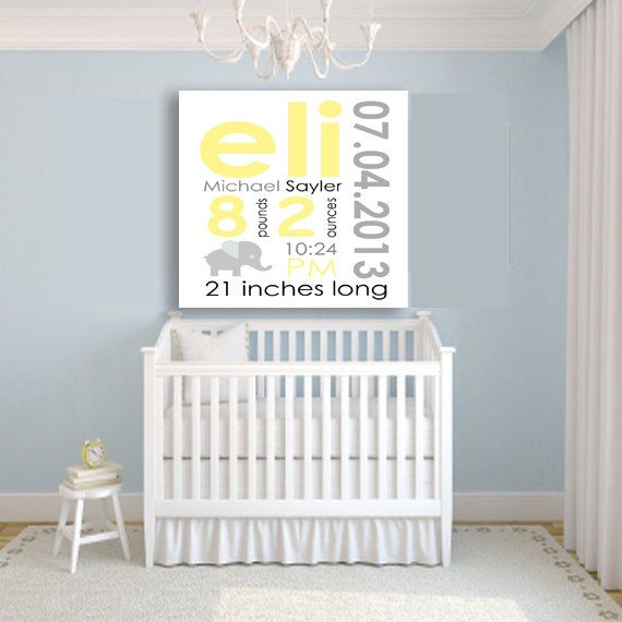 27 best birth frame images on pinterest baby baby babys and birth custom canvas baby birth announcement wall art nursery baby shower gift negle Images
