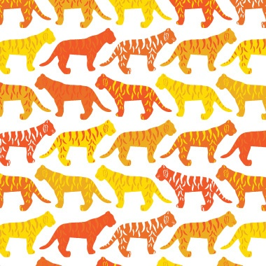 avalisa - Tiger Pattern Stretched Print