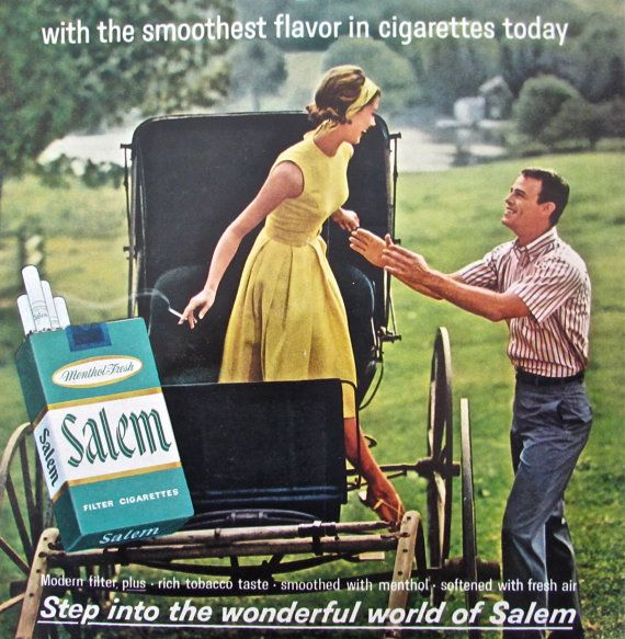 1960S Vintage Tobacco Advertising For SALEM By