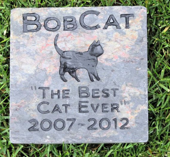 Personalized Cat Memorial Stone Grave Marker by mainlinedesigns, $39.99