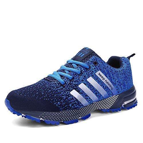 Oferta: 28.99€. Comprar Ofertas de Sollomensi Zapatos para Correr en Montaña y Asfalto Aire Libre y Deportes Zapatillas de Running Padel para Hombre Azul 46 barato. ¡Mira las ofertas!