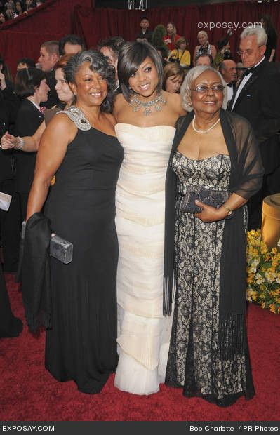 Taraji P. Henson, mother and grandmother - 81st Annual Academy Awards - Arrivals