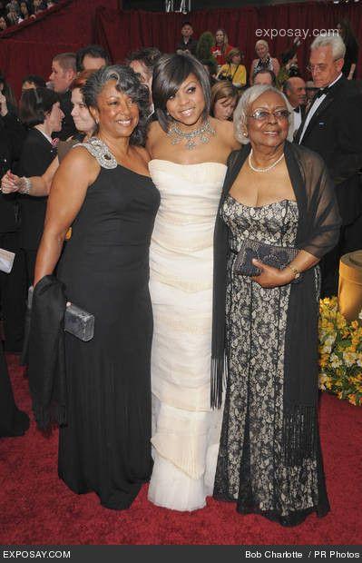 Taraji P. Henson, mother and grandmother - 81st Annual Academy Awards - Arrivals