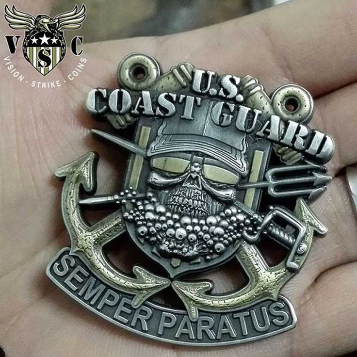 """2"""" US Coast Guard Semper Paratus Military Challenge Coin Double Sided"""