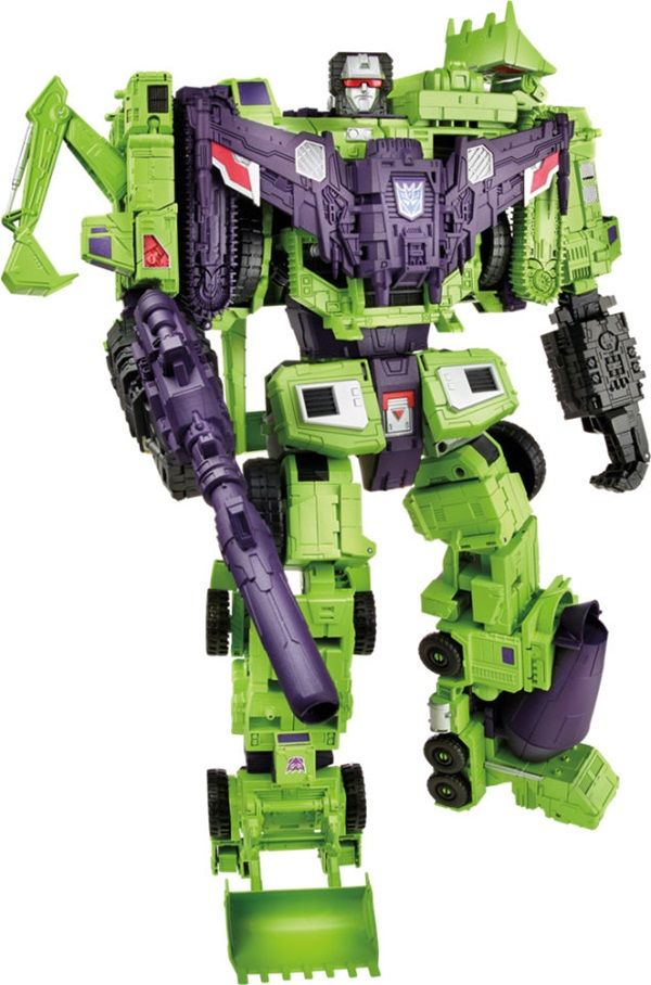 Hasbro Releases Massive 2-Foot Tall Transformers Devastator | DAMN I WAS ORIGINALLY OBSESSED WITH THE G1 TOYS, EVEN THO THAT GESTALT FORM WAS FRAGILE. THIS LOOKS SO EPIC! IF ONLY THEY HAD A PINK + GREEN VERSION ;)