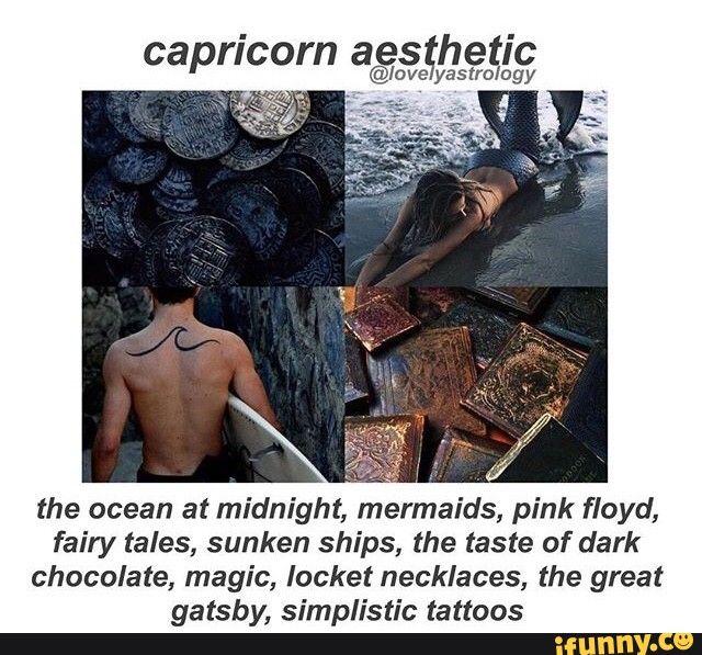 zodiac, capricorn, aesthetic