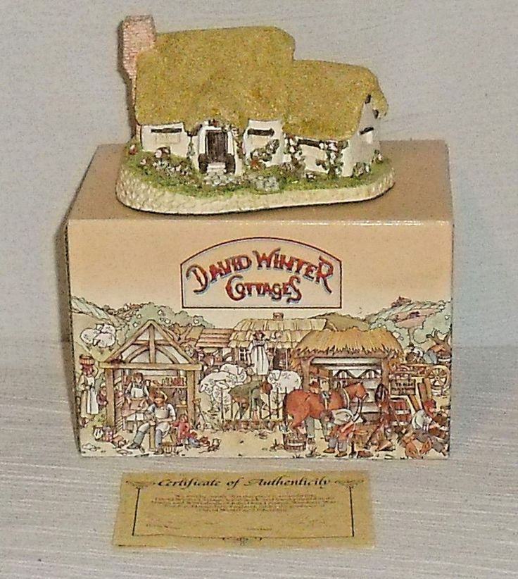 www.jaedasplaythings.com David Winter Cottages ROSE COTTAGE 1980 In Box With Paperwork